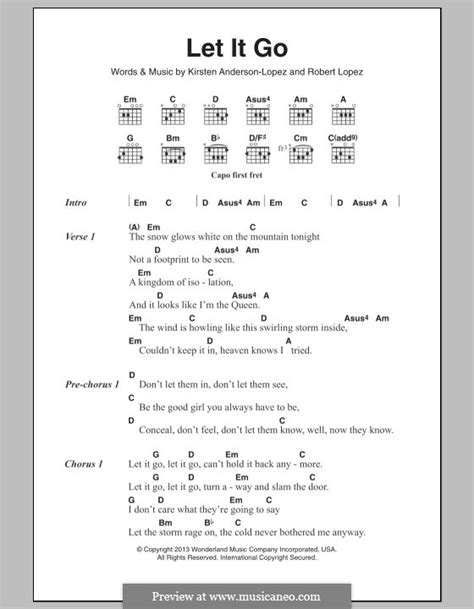 printable lyrics let it go let it go from frozen by r lopez k anderson lopez on