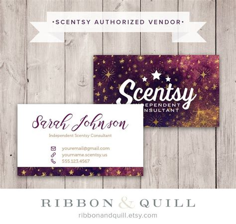 printable business card template for scentsy 17 best images about thirty one scentsy business cards