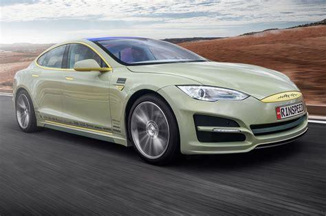 Tesla Model S Autonomy Rinspeed Xchange Concept Front Three Quarters In Motion
