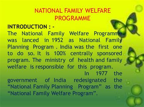 Family Business Mba Programme In India by National Family Welfare Programme 2