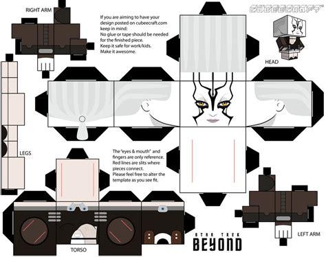 Trek Papercraft - cubeecraft jaylah trek beyond by jagamen on deviantart