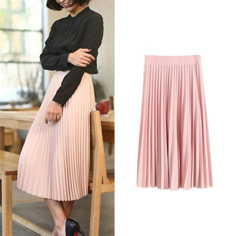 summer s high waist a line pleated skirt dress
