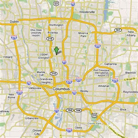 columbus ohio map usa map of columbus free printable maps