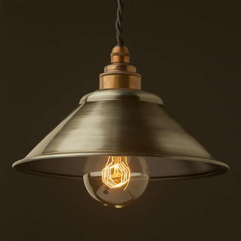 Antiqued Steel Light Shade 190mm Pendant Metal Light Pendants