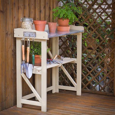 folding potting bench folding hardwood potting table potting tables tables