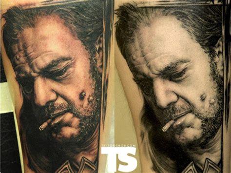 black and grey tattoo fresh vs healed fresh vs healed most lifelike portrait i ve seen looks