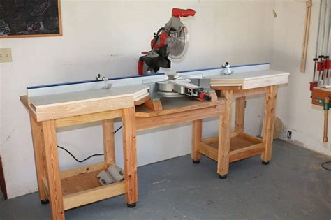 chop saw table height woodworking tools how to a miter saw table
