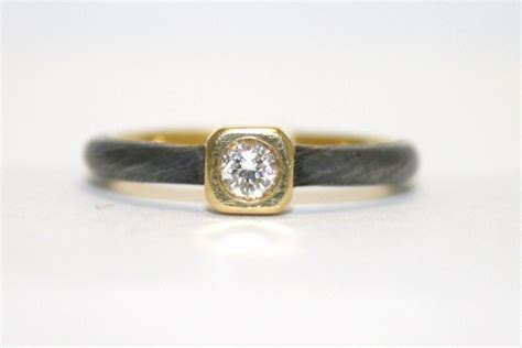 pearsons jewelry yellow and oxidized white gold ring