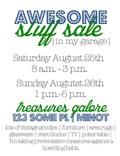 How To Find Garage Sales On Craigslist by Garage Sale Tips Flyers And How To Make A Big Image