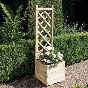 lattice planter with trellis wood n garden timber fencing garden furniture decking
