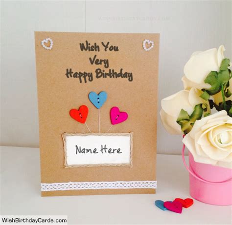 Amazing Handmade Birthday Cards - amazing handmade birthday cards with name