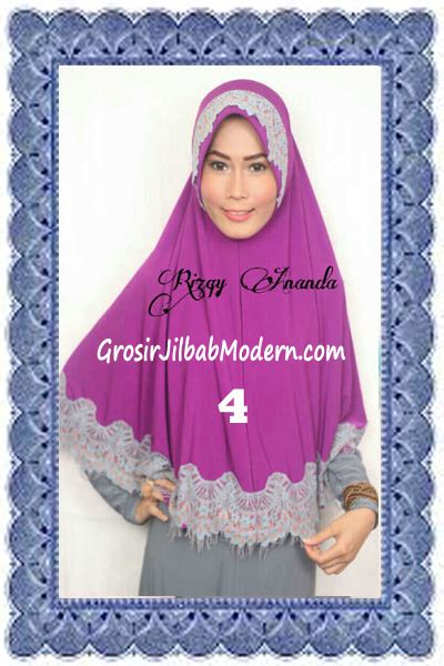 Krudung Umama Motif jilbab khimar cantik latifah modis dan syar i no 4 magenta