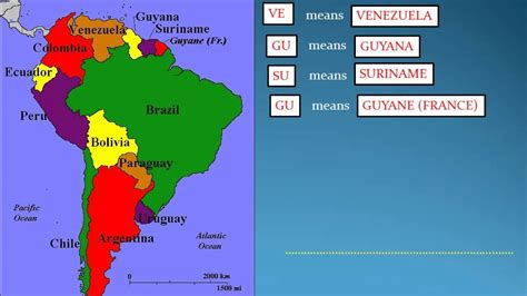 map of south american countries how to remember world map part 1 south american countries