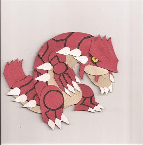 Groudon Papercraft - origami groudon comot