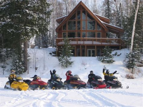 Snowmobile Cabin by Peninsula Michigan Cabin The Dickerson