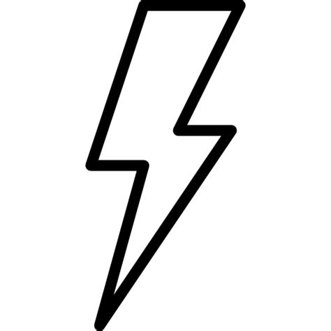 Flash Symbol Outline by Flash Symbol Free Technology Icons