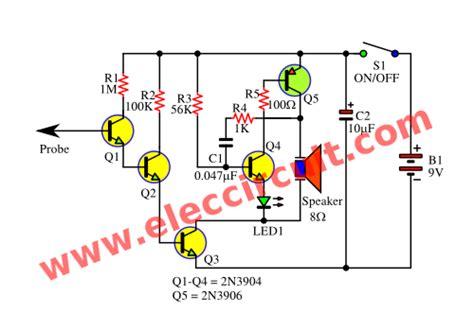 non contact voltage detector circuit diagram simple non contact voltage tester using transistors