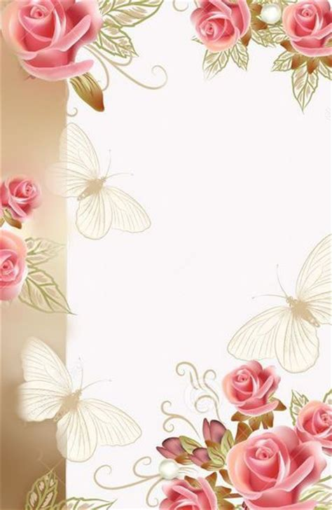 flowers card template border of paper 13 best images about border designs on pink