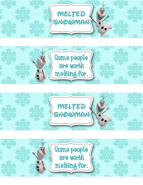 free printable melted olaf labels search results for olaf printable template calendar 2015