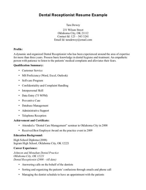 Sle Of Receptionist Resume by Front Desk Resume Jvwithmenow