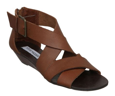 thick sandals steve madden karroll sm low wedge thick sandals in