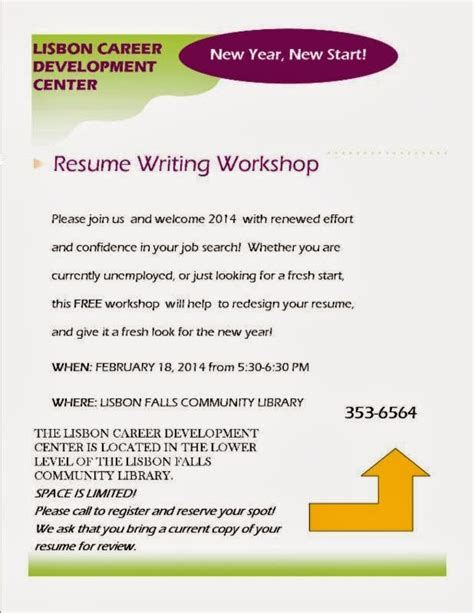 resume workshop miami the lisbon reporter library