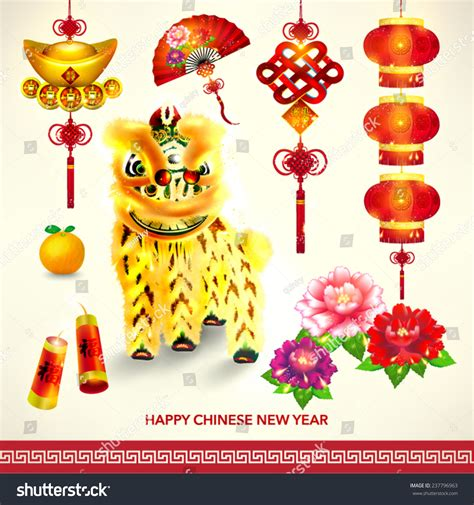 design elements for chinese new year 25xeps oriental happy chinese new year element vector design