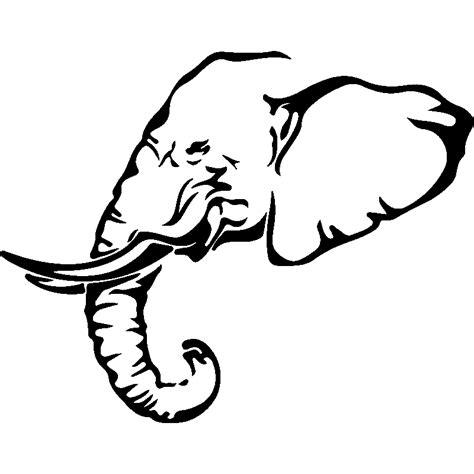 Tete Elephant Profil sticker profil d une t 234 te d 233 l 233 phant