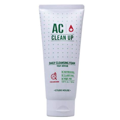 Etude House Ac Clean Up Acne Daily Cleansing Foam 150ml etude house ac clean up daily cleansing foam etude house cleansing foam shopping sale