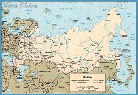 russia map 2016 russia map travelsfinders