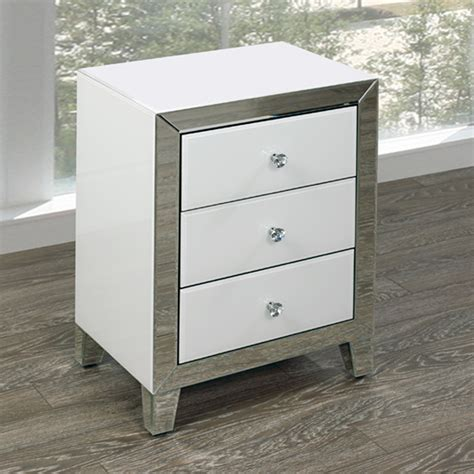 Small White Side Table White Mirror Side Table Xcella