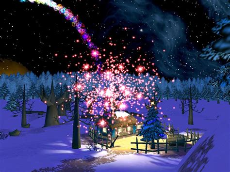 Chritmas night 3d screensaver visit santa s house and let your wishes