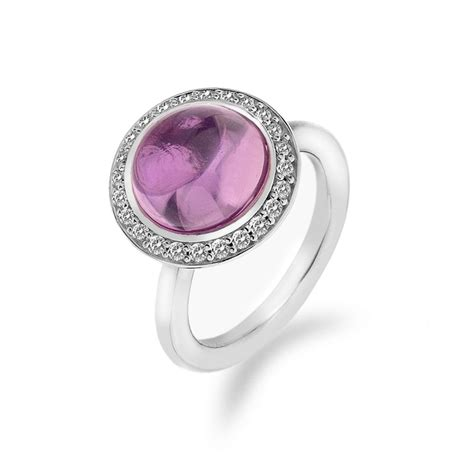 emozioni laghetto pink sterling silver ring by