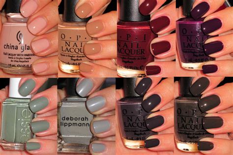 winter nail polishes  swatches
