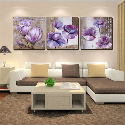 artistic home decor no frame 3 vintage home decor purple flower wall