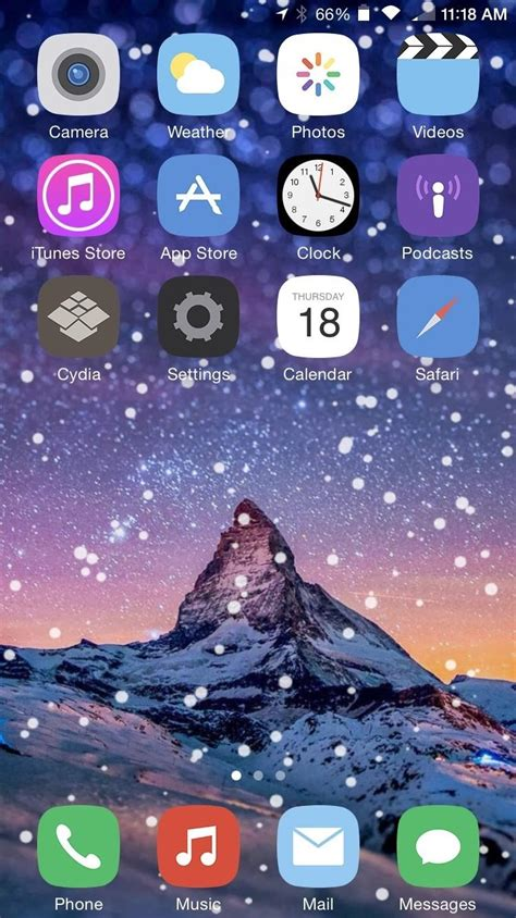 themes for iphone home screen theme your iphone s home screen with falling snow for the