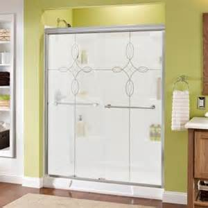 delta panache 59 3 8 in x 70 in bypass sliding shower
