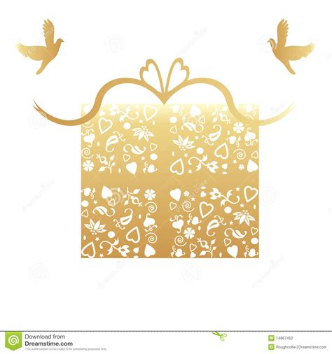 Gift Cards For Wedding Presents - golden 50th wedding anniversary gift card stock photography image 14867452