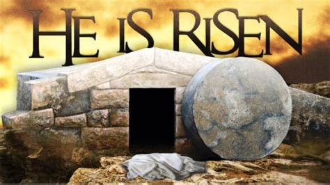 Church Powerpoint Template He Is Risen Tomb Sermoncentral Easter