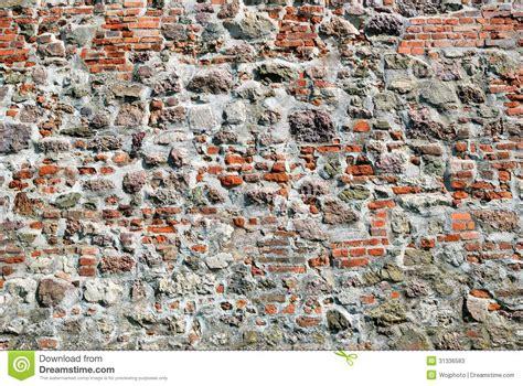 red brick stone wall stock  image