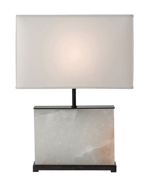 white rectangle l shade b212l alabaster and bronze table l with rectangle shade