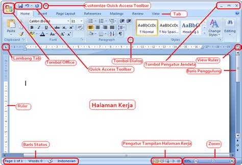 fungsi layout pada ms word fungsi menu bar pada microsoft word ms word 2007 biellsoft