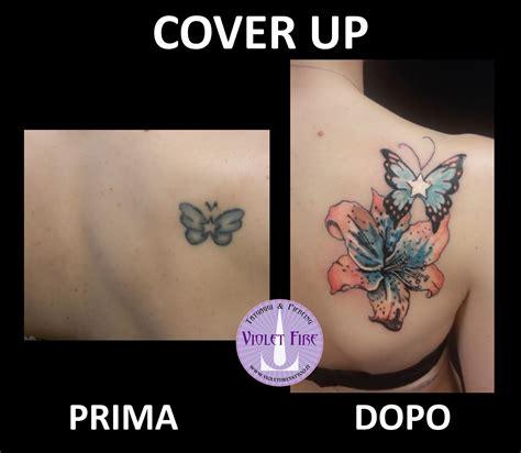 tatuaggio fiore della vita tatuaggio fiore giglio a colori arancione azzurro verde