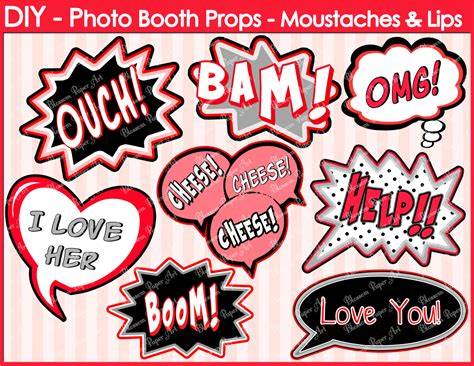 photo booth speech template speech bubbles printable photo booth props diy printables