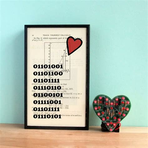 valentines gifts for geeky guys s day gift binary code i you print by