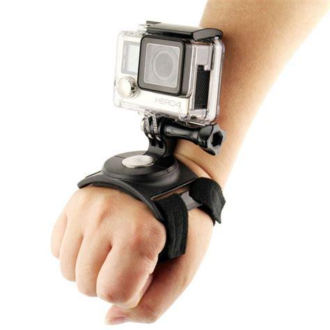 Sale 360 Glove For Sjcam Gopro Series Terjamin shoot 3 in 1 360 degree rotary glove wrist leg mount for gopro sjcam xiaomi yi sports