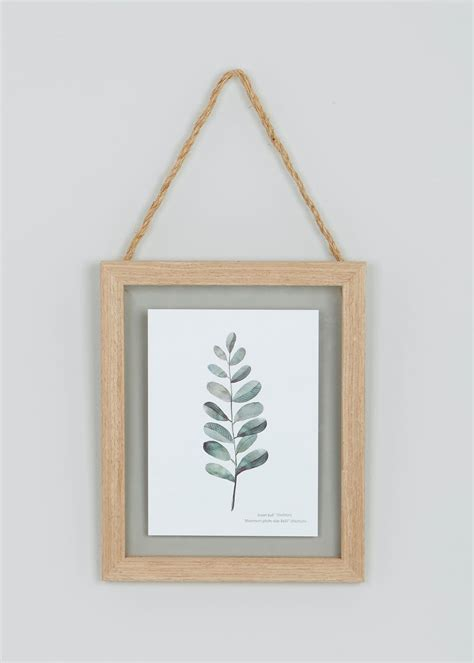 hanging wood frame cm  cm natural matalan
