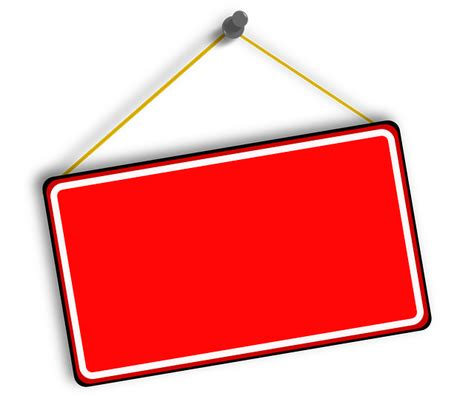 free vector graphic hanging sign red board free