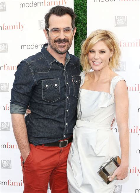 ty burrell and family modern family stars ty burrell and julie bowen get close
