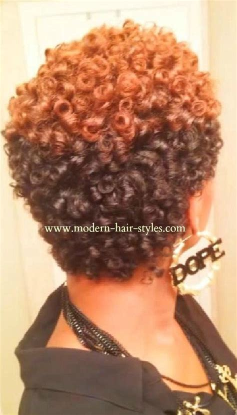 short natural hairstyles with rod curls short hairstyles for black women self styling options